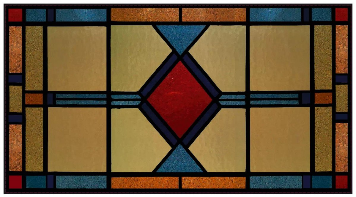raamfolie, glas in lood