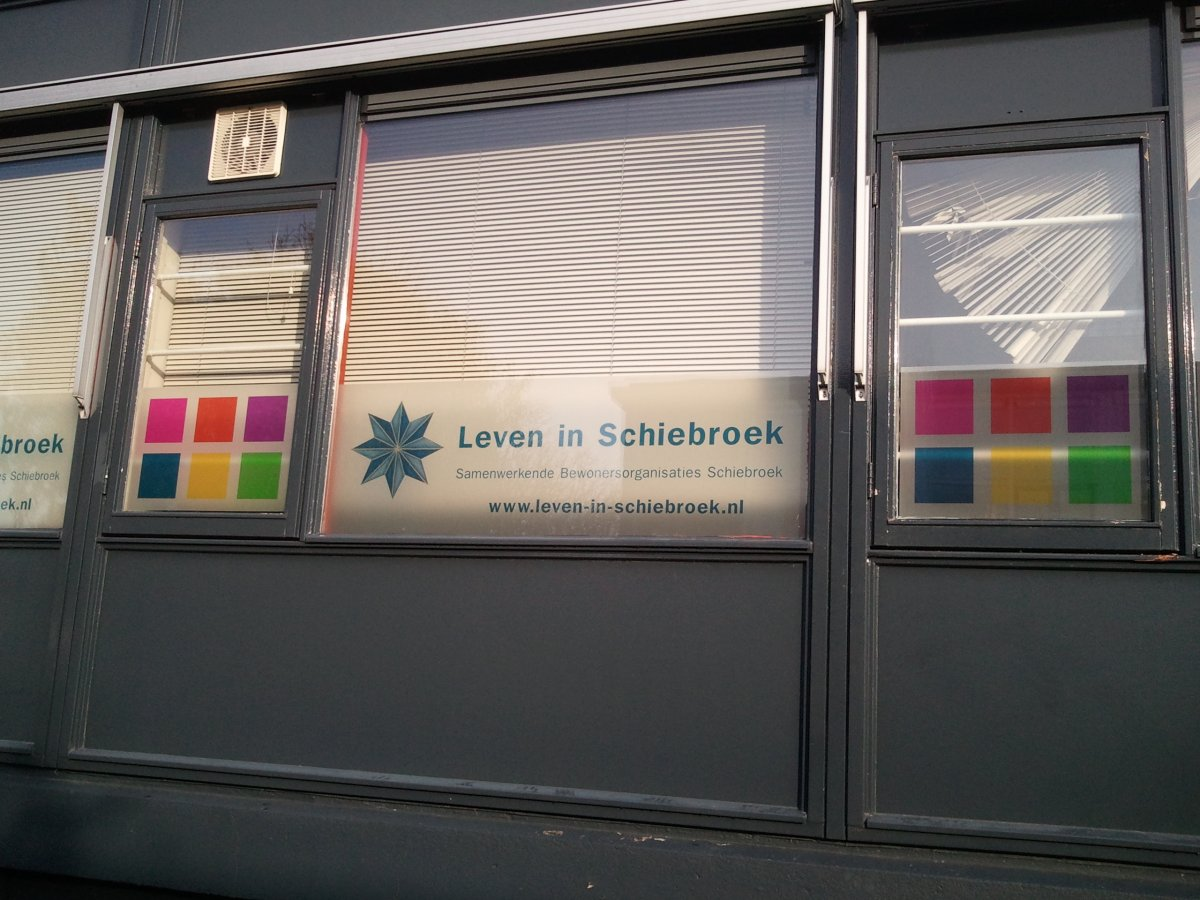 Raamfolie bies bedrijven buitenkant windowdeco - Deco ingang buitenkant ...