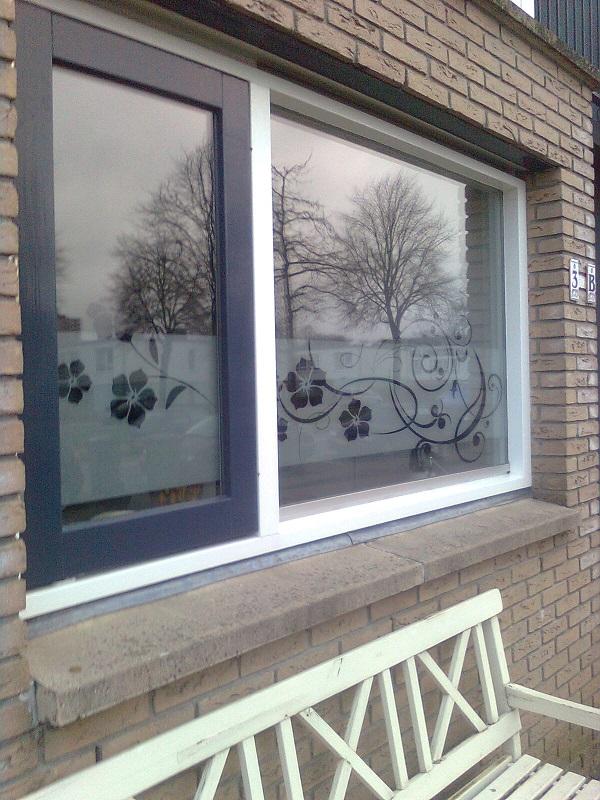 raamfoliebloemenkeuken windowdeco