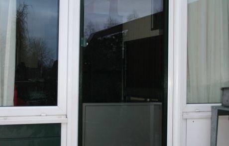 raamfolie, woonkamer, achterdeur