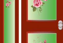 voordeur, raamfolie, voorbeeld, full colour