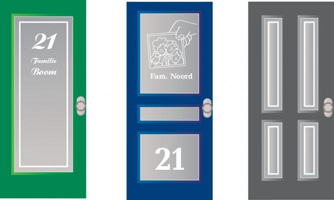 raamfolie voordeur voorbeelden gesneden