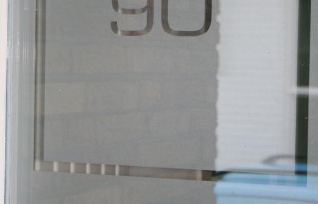 raamfolie, huisnummer, glasfolie
