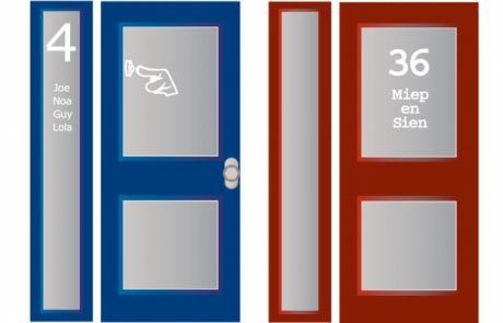 raamfolie ontwerp voorbeeld voordeur