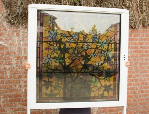 Glas in lood, Raamfolie, Transparante Raamfolie