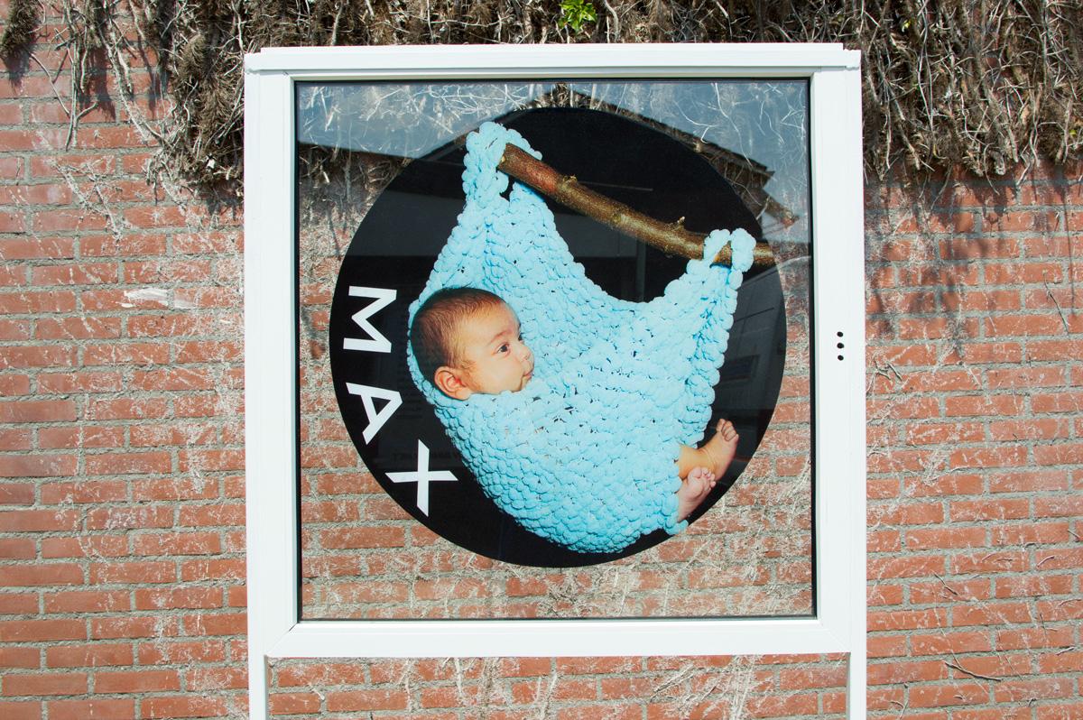 Statische raamfolie, geboortesticker