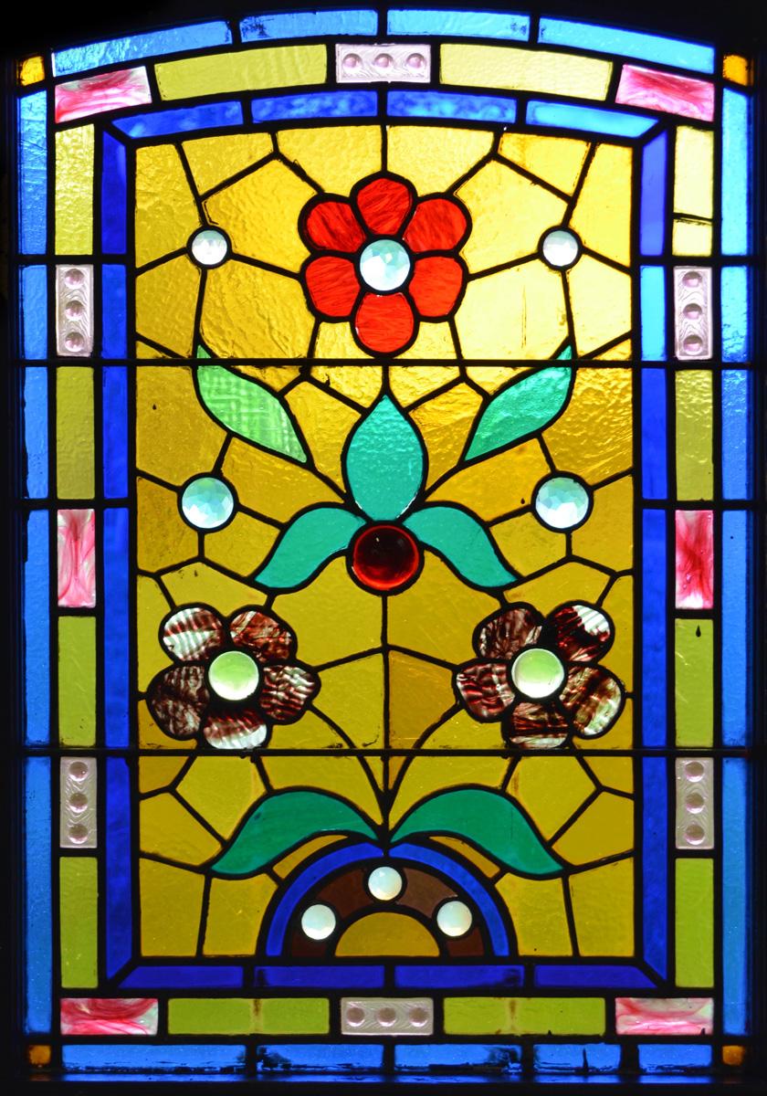 Glas In Lood Raamfolie Bloemen Windowdeco
