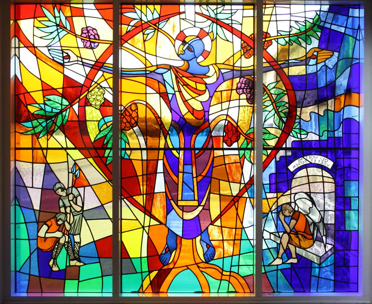 glas-in-lood-voorzetraam-kerk - WindowDeco