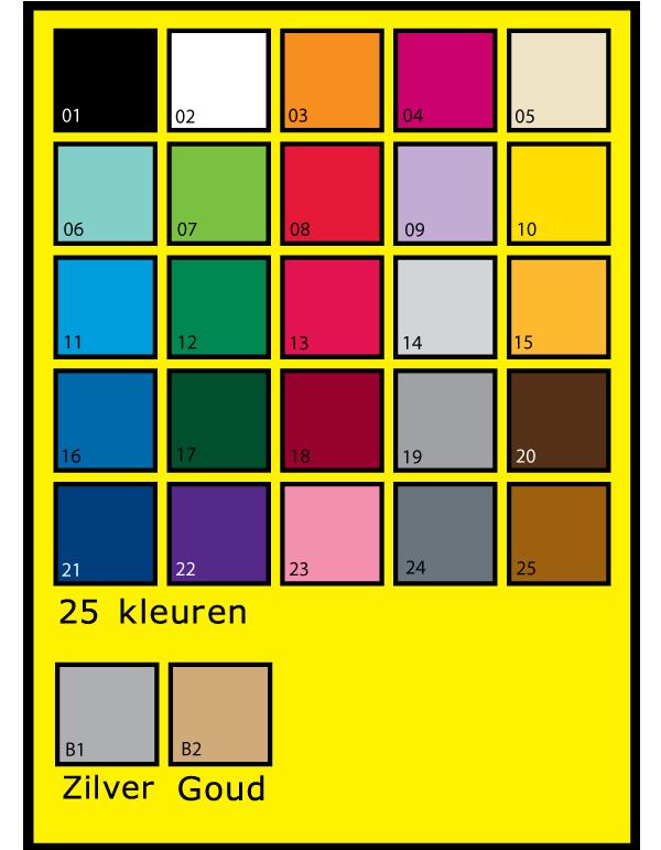 plakletters, kleuren