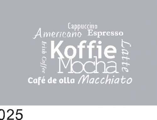Raamfolie, koffie