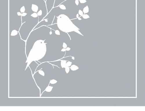 Raamfolie, vogels, tak