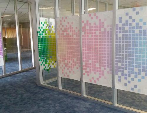 Transparante raamfolie 3 kantoor project eigen ontwerp for Ontwerp je eigen kantoor
