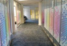 Transparante raamfolie (3) kantoor, project, eigen ontwerp