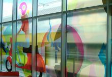 Transparante raamfolie (3) groot, kunst