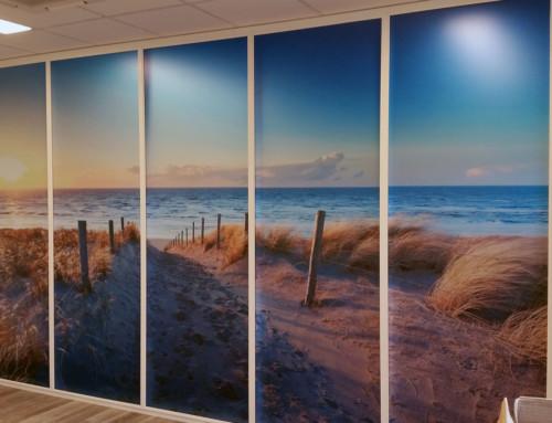 Bedrukte glasfolie (2) foto, glazen wand, fotowand