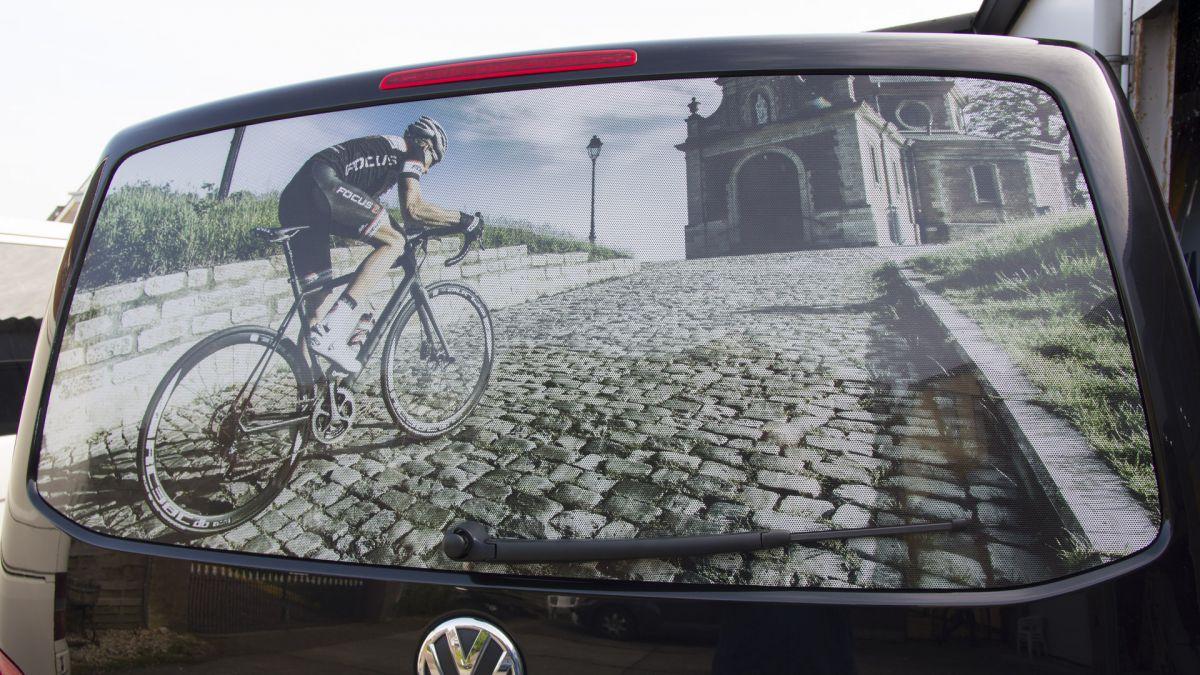 One way vision raamfolie, auto achterkant raam