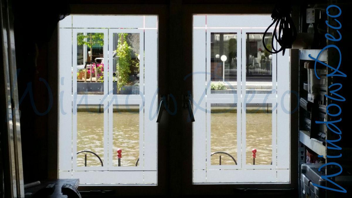 glasfolie, raamfolie, gedeeltelijke privacy, garage, windowdeco