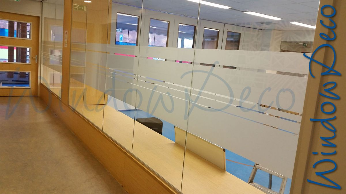glasfolie, raamfolie, gedeeltelijke privacy, school, windowdeco