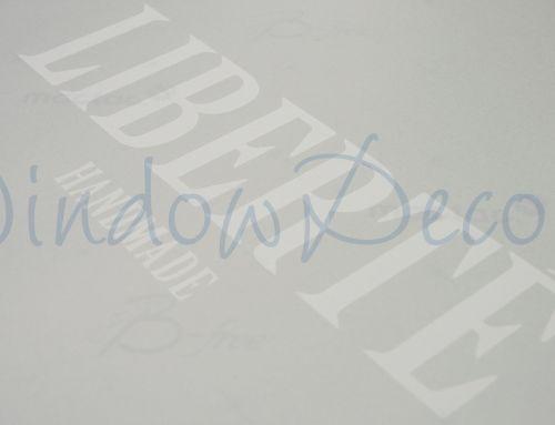 Raamfolie met eigen ontwerp en logo