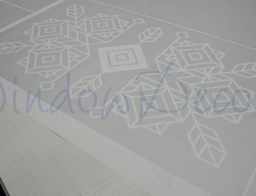 Raamfolie ontwerpen met eigen abstract design